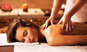 Body massage with trained female therapist